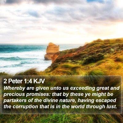 2 Peter 1:4 KJV Bible Verse Image
