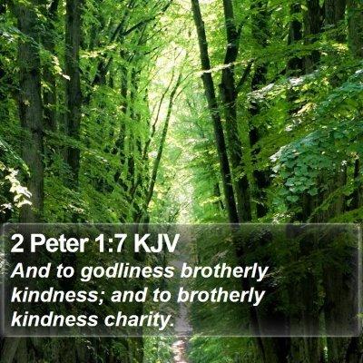 2 Peter 1:7 KJV Bible Verse Image