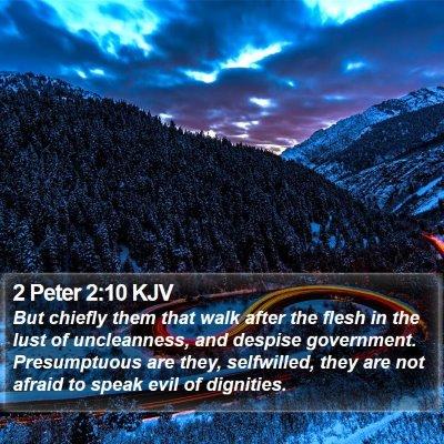 2 Peter 2:10 KJV Bible Verse Image