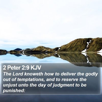 2 Peter 2:9 KJV Bible Verse Image