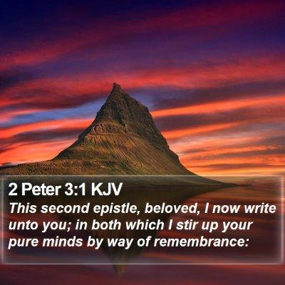 2 Peter 3:1 KJV Bible Verse Image