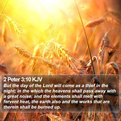 2 Peter 3:10 KJV Bible Verse Image