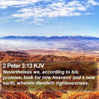 2 Peter 3:13 KJV Bible Verse Image