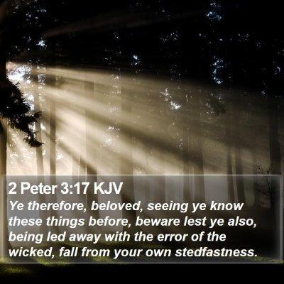2 Peter 3:17 KJV Bible Verse Image