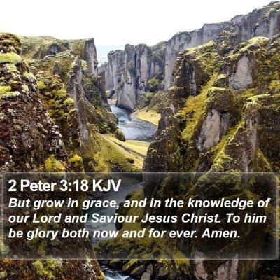 2 Peter 3:18 KJV Bible Verse Image