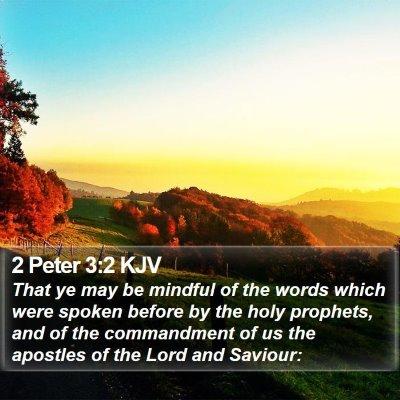 2 Peter 3:2 KJV Bible Verse Image