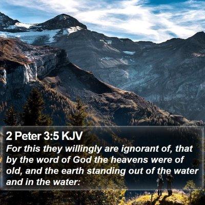 2 Peter 3:5 KJV Bible Verse Image