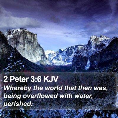 2 Peter 3:6 KJV Bible Verse Image
