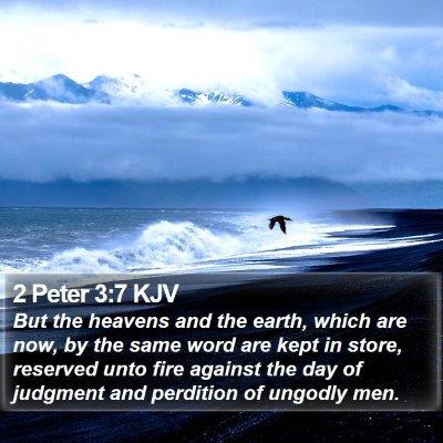 2 Peter 3:7 KJV Bible Verse Image