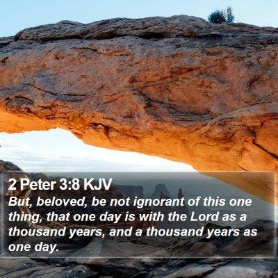 2 Peter 3:8 KJV Bible Verse Image