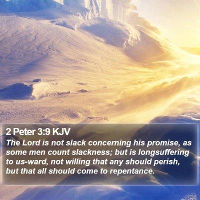 2 Peter 3:9 KJV Bible Verse Image
