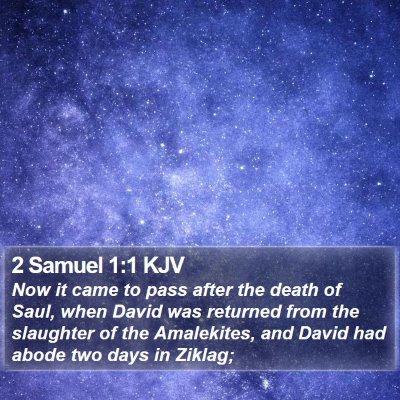 2 Samuel 1:1 KJV Bible Verse Image