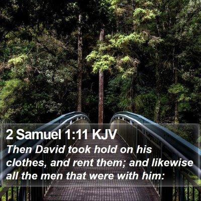 2 Samuel 1:11 KJV Bible Verse Image