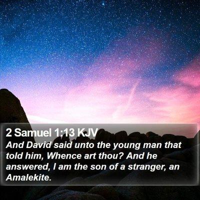 2 Samuel 1:13 KJV Bible Verse Image