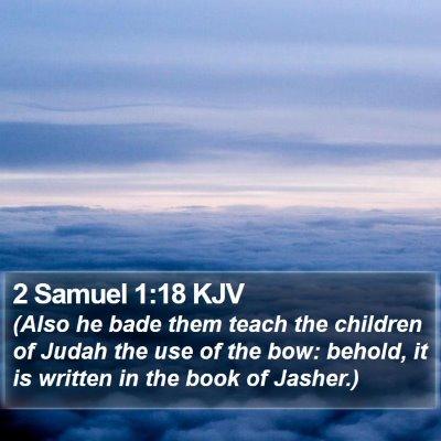 2 Samuel 1:18 KJV Bible Verse Image