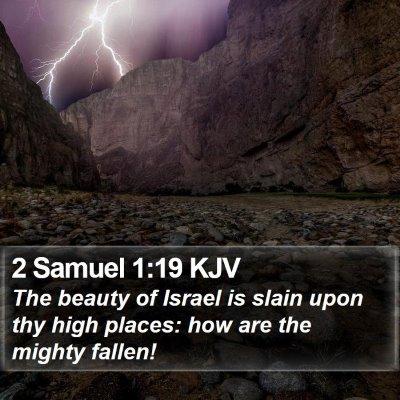2 Samuel 1:19 KJV Bible Verse Image