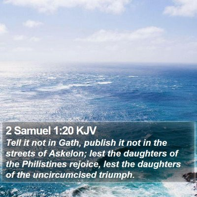 2 Samuel 1:20 KJV Bible Verse Image