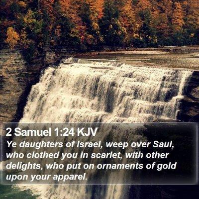 2 Samuel 1:24 KJV Bible Verse Image