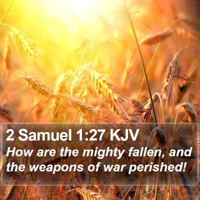 2 Samuel 1:27 KJV Bible Verse Image