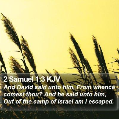 2 Samuel 1:3 KJV Bible Verse Image