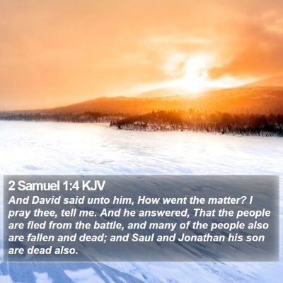 2 Samuel 1:4 KJV Bible Verse Image