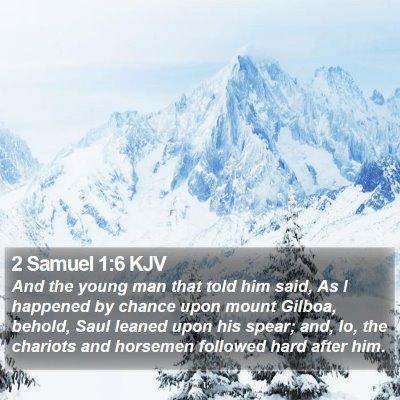 2 Samuel 1:6 KJV Bible Verse Image