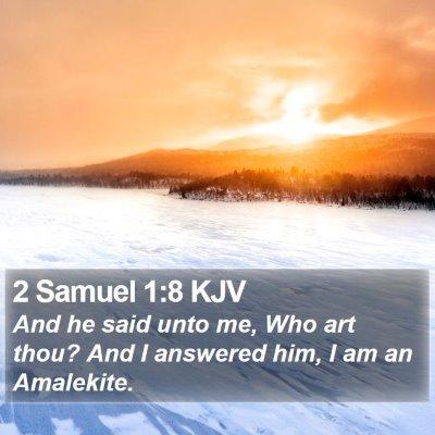 2 Samuel 1:8 KJV Bible Verse Image