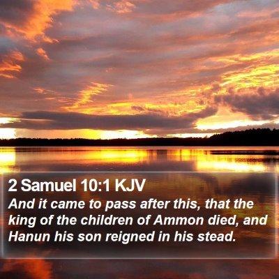 2 Samuel 10:1 KJV Bible Verse Image