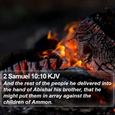 2 Samuel 10:10 KJV Bible Verse Image