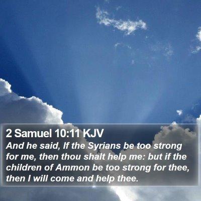 2 Samuel 10:11 KJV Bible Verse Image