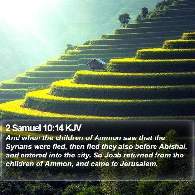 2 Samuel 10:14 KJV Bible Verse Image