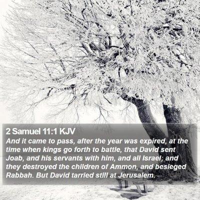 2 Samuel 11:1 KJV Bible Verse Image