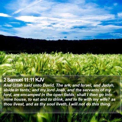2 Samuel 11:11 KJV Bible Verse Image
