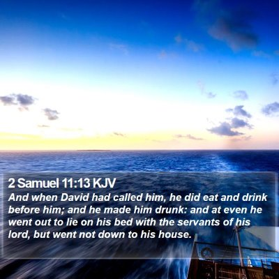 2 Samuel 11:13 KJV Bible Verse Image