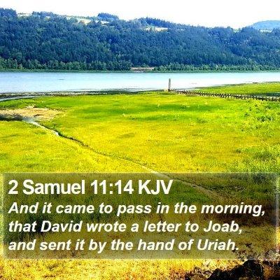 2 Samuel 11:14 KJV Bible Verse Image
