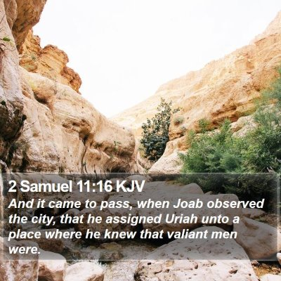 2 Samuel 11:16 KJV Bible Verse Image