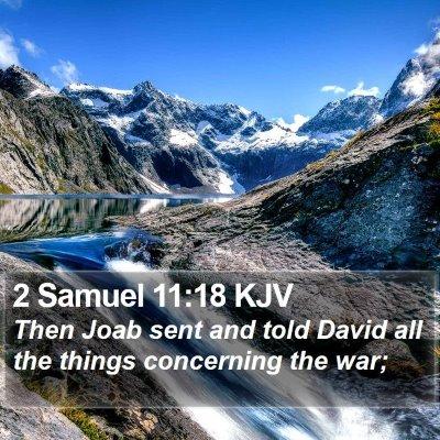 2 Samuel 11:18 KJV Bible Verse Image