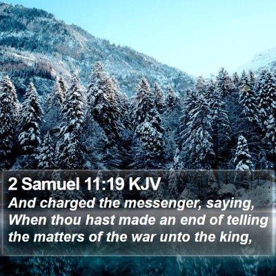 2 Samuel 11:19 KJV Bible Verse Image
