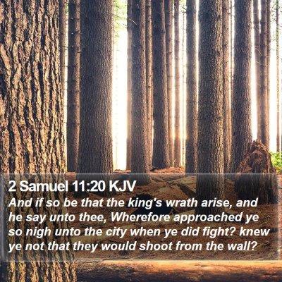 2 Samuel 11:20 KJV Bible Verse Image