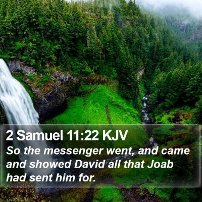 2 Samuel 11:22 KJV Bible Verse Image