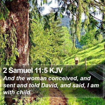 2 Samuel 11:5 KJV Bible Verse Image