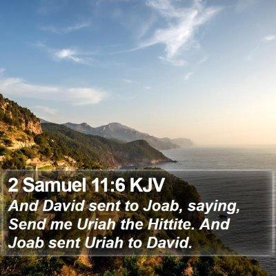 2 Samuel 11:6 KJV Bible Verse Image