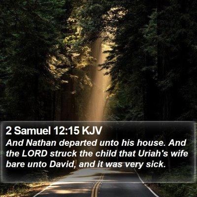 2 Samuel 12:15 KJV Bible Verse Image