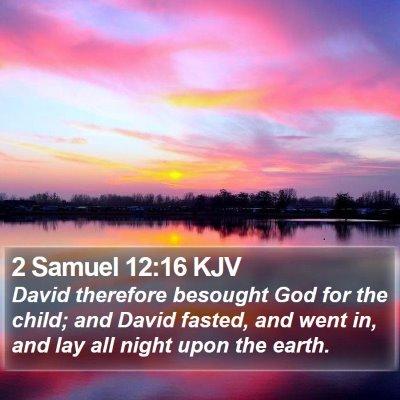 2 Samuel 12:16 KJV Bible Verse Image