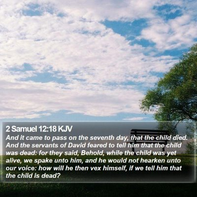 2 Samuel 12:18 KJV Bible Verse Image