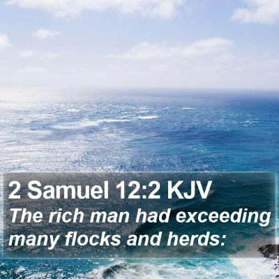 2 Samuel 12:2 KJV Bible Verse Image