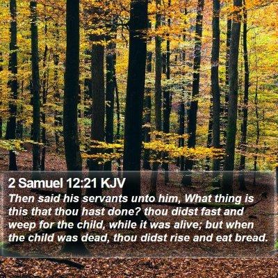 2 Samuel 12:21 KJV Bible Verse Image