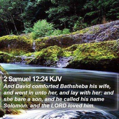 2 Samuel 12:24 KJV Bible Verse Image