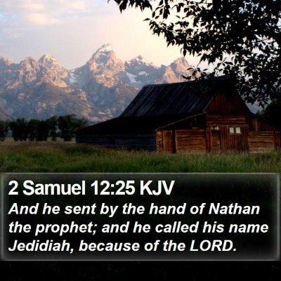 2 Samuel 12:25 KJV Bible Verse Image