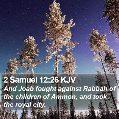 2 Samuel 12:26 KJV Bible Verse Image